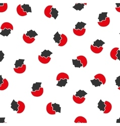 Soldier helmet flat seamless pattern vector