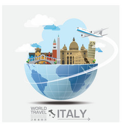 Italy landmark global travel and journey vector