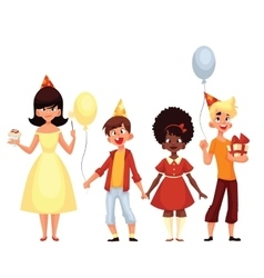 Group of children on a holiday vector