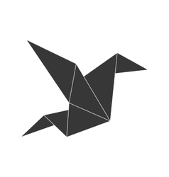 Bird icon Origami design graphic vector image