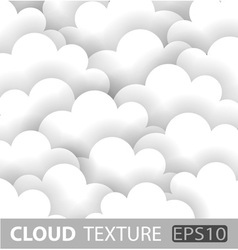 Abstract white cloud paper background vector