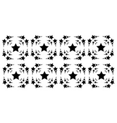 background style black star collection vector image vector image
