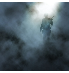 Battlefield soldier vector image vector image