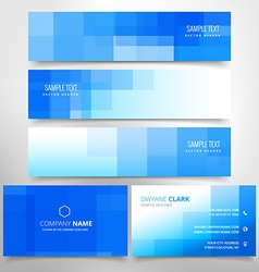 Business card and headers collection vector