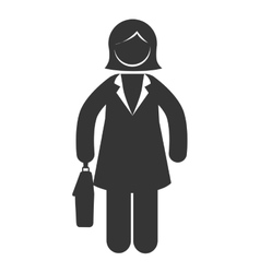 business woman briefcase suit icon graphic vector image vector image