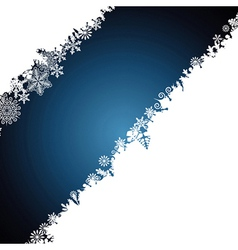 Christmas border snowflake design background vector image