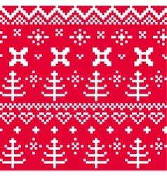 Christmas Norwegian seamless knitting pattern vector image vector image