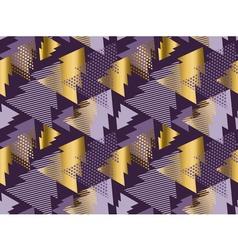 Christmas tree seamless modern pattern rich violet vector