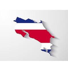 Costa rica map with shadow effect vector