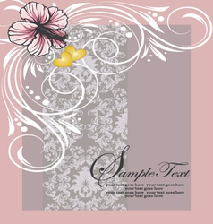 damask shower invitation card vector image vector image