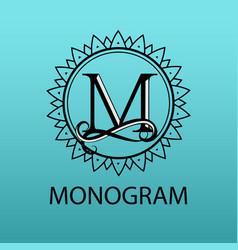 design modern logo letter monogram for business vector image vector image