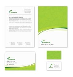 Eco green leaf logo template vector
