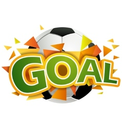 goal with football ball vector image vector image