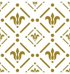 Golden flower pattern on white background vector