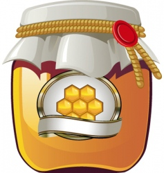 honey spread vector image vector image