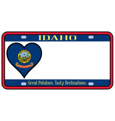 Idaho state license plate vector