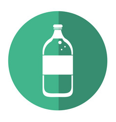 Mineral water bottle fresh shadow vector