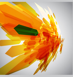 Orange and a green arrow in motion vector
