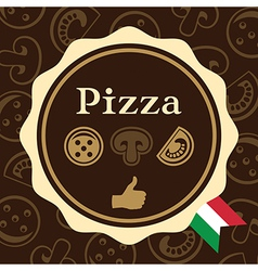 Pizza Packaging Design vector image vector image