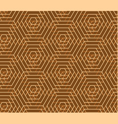 seamless geometric pattern hexagon abstract vector image vector image