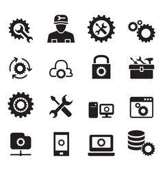setting configuration set up repair tuning icon vector image vector image