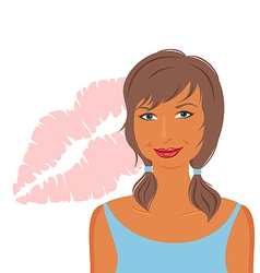 sexy girls face - vector image vector image