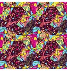 Skull with poligonal ornament vector image vector image