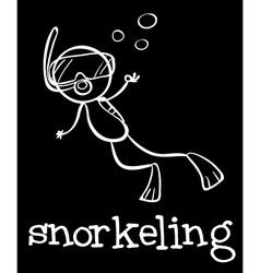 Snorkeling vector