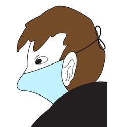 The Man in a medical mask vector image vector image