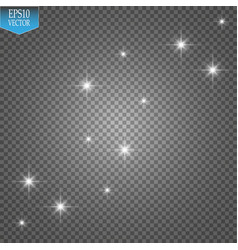 white glitter wave white star dust trail vector image