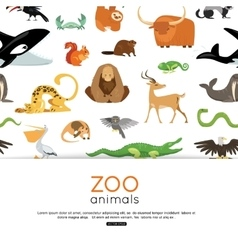 Zoo animals background eps 10 format vector