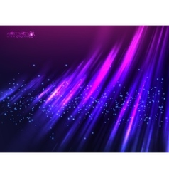 Violet aurora polar light abstract vector