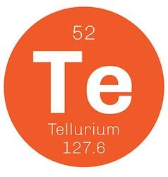 Tellurium chemical element vector