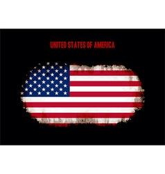 Grunge US flag vector image