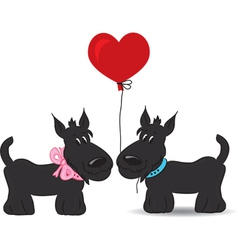 Dogs couple in love vector