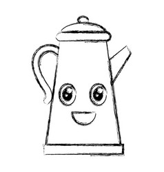 kitchen kettle kawai character vector image