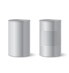 Metallic tin can vector