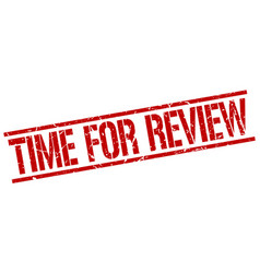 Time for review stamp vector