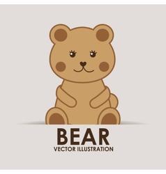 Bear teddy vector
