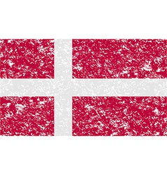 Flag of denmark with old texture vector