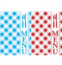 menu card vector image