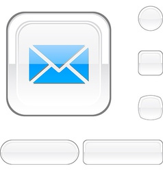 Mail white button vector