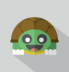 Modern flat design turtle icon vector