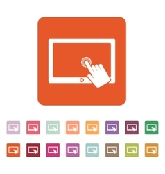 The touch screen icon tablet symbol flat vector
