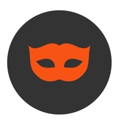 Privacy mask flat orange and gray colors round vector