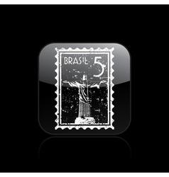 brazil icon vector image