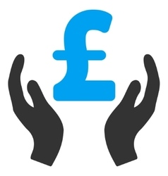 Pound care hands flat icon symbol vector