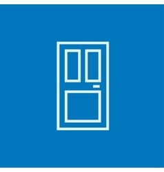 Front door line icon vector
