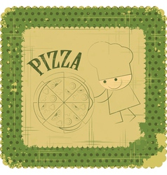 Vintage pizza menu card vector