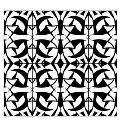 Abstract lattice monochrome seamless pattern vector image vector image